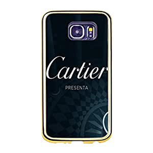 Diy Theme Luxury Cartier Mobile Case TPU Golden Border Series for Samsung Galaxy S6