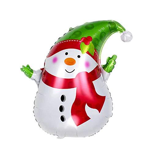 Noon-Sunshine decorative-plaques Christmas Balloons Santa Claus Snowman Walking Stick Foil Air Balloons Kids Toys,D]()
