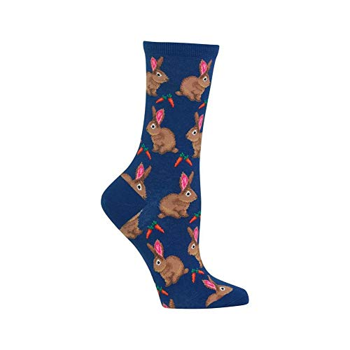 Hot Sox Women's Originals Classics Crew Socks, Bunnies