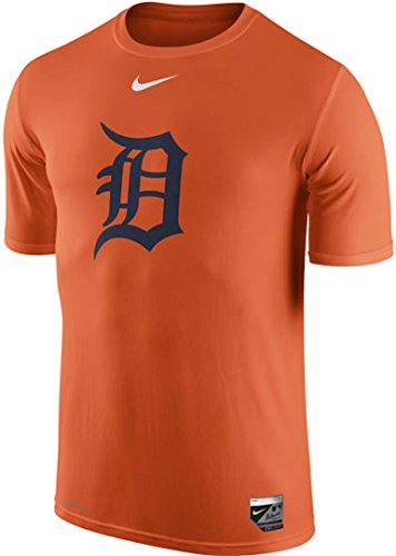 Detroit Tigers Nike Batting Practice Logo Legend Performance T-Shirt (Orange, Large) ()