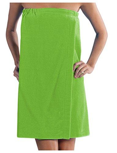Adult Wrap Bath (robesale Womens Bath Wrap Towels, Lime, S/M Size)