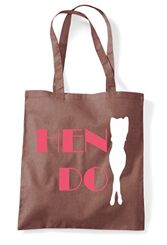 Customised Bag Chestnut Do Sexy Silhouette Personalised Party Hen Tote Shopper 5wq0ZZ