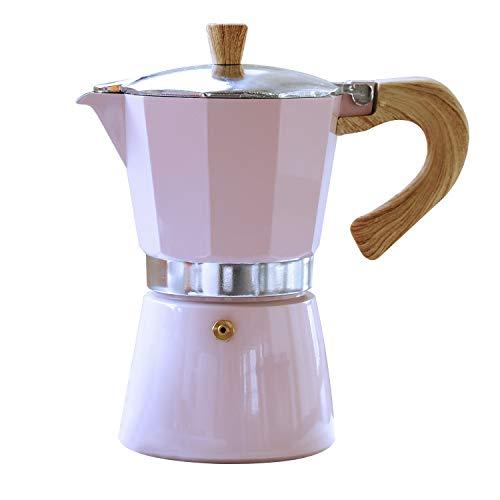 Gnali & Zani VEZ006/IND/PINK Venezia – Cafetera de espresso, color rosa, 6 tazas, cafetera expreso de aluminio