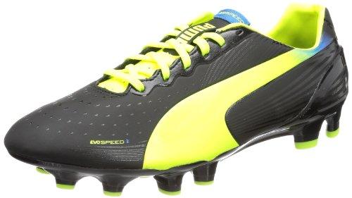 Puma evoSPEED 2.2 FG 102861 Herren Fußballschuhe Schwarz (Black-fluo Yellow-brilliant Blue 01)