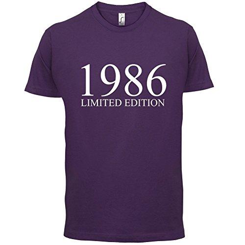 1986 Limierte Auflage / Limited Edition - 31. Geburtstag - Herren T-Shirt - Lila - S