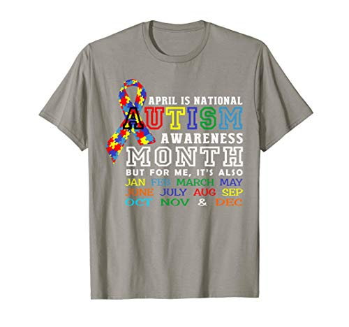 (April is National Autism Awareness Month T Shirt Great)