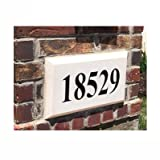 ABC Address Blocks Personalized Address Plaque 9'' x 15'' Chamfered Edge Style. Pre-Cast Stone. Engraved.