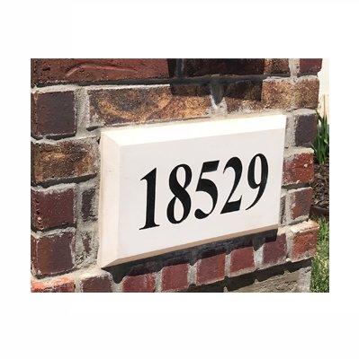 ABC Address Blocks Personalized Address Plaque 9'' x 15'' Chamfered Edge Style. Pre-Cast Stone. Engraved. by ABC Address Blocks (Image #2)