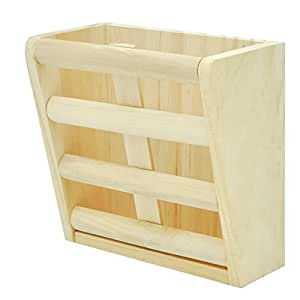 Niteangel Natural Wooden Hay Manger, Feeder for Rabbits, Chinchilla, Hamster and Guinea Pigs