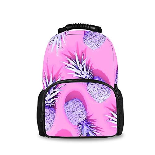 YongColer Durable Polyester Rucksacks Pink Pineapple Travel and Sport Backpack Rucksack - Big Capacity Anti-Theft Multipurpose Carry-On Bag for Men Women Kids