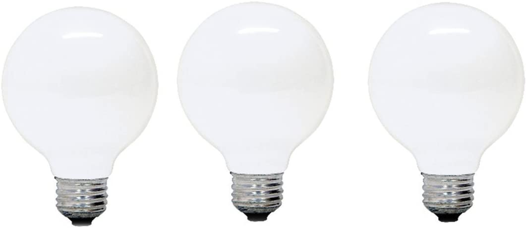 GE Lighting 69812 25-watt, 145-Lumen G25 Bulb with Medium Base, Soft White, 3-Pack