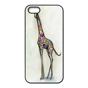 the Case Shop- Customizable Giraffe iPhone 5 and iPhone 5S TPU Rubber Hard Back Case Cover Skin , i5xq-434