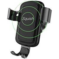 Squish Wireless Charger Car Mount Adjustable Gravity Air Vent Phone Holder