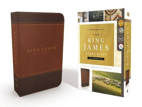 KJV, The King James Study Bible, Imitation Leather, Brown, Full-Color Edition