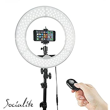 Amazon Com Socialite 18 Quot Led Dimmable Photo Video Ring