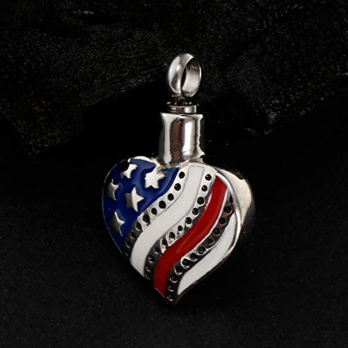 Stainless Steel American Heart Cremation Pendant Urn Jewelry Pet Ash Holder Necklace Jewelry Crafting Key Chain Bracelet Pendants Accessories Best