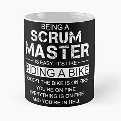 - Scrum Master Being A Is Like Riding Bike - Coffee Mug 11 Oz Funny Gift
