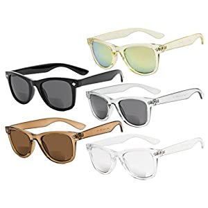 Eyekepper Classic Bifocal Sunglasses for Women 5 Pack Mix color +1.50