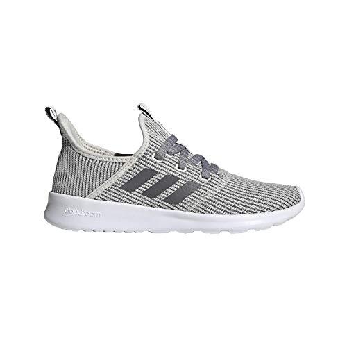 Extra Wide Shoes Women - adidas Women's Cloudfoam Pure Sneaker, raw Night Metallic/Cloud White, 8.5 M US