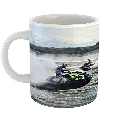 Westlake Art - Ski Jet - 11oz Coffee Cup Mug - Modern Picture Photography Artwork Home Office Birthday Gift - 11 Ounce (66E9-C3CB7) (Jet Ski Mug)