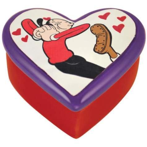 Westland Giftware Olive Oyl In Love Ceramic Trinket Box, 1-3/4-Inch (Olive Oyl)
