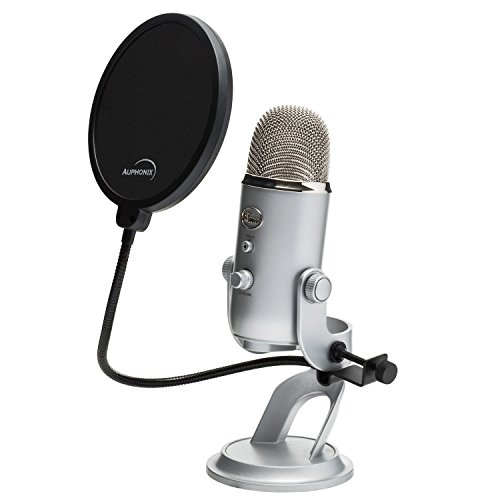 6 Inch Pop Filter For Blue Yeti Microphone With 360 Degree