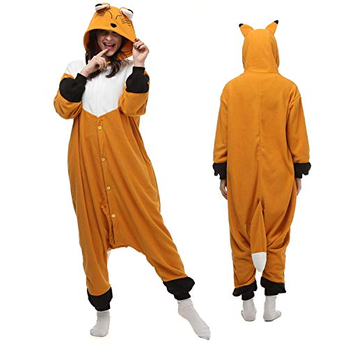Animal Adult Onesies Fox Womwn/Men Cattoon Cosplay Animal Pajamas Sleepwea