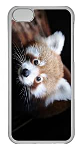 cover leather red panda PC Transparent case for iphone 5C