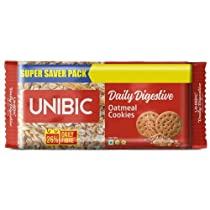 [Pantry] UNIBIC Oat Meal Cookies, 600 g (4x150g) worth Rs. 155 for Rs. 78 - Amazon
