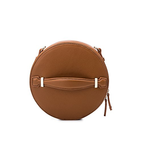 Melie Bianco Stylish Crossbody Strap Shoulder Bags For Women - Round Design - Luxury Vegan Leather ()