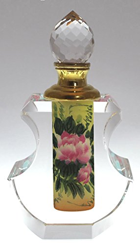 - Pink Lotus Flower Crystal Perfume Bottle Collectible - PBA04-468