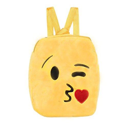 AIMTOPPY 2017 New Cute Emoji Emoticon School Child Bag Backpack Satchel Rucksack Handbag - H Chanel