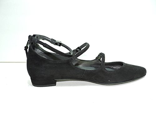 Stuart Weitzman Womens Flippy Noir Daim Strappy Ballerines, Chaussures Habillées Taille 8.5 Aa, N
