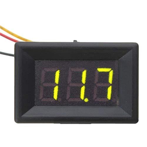 DC 0-30V 3 Wire LED Display Digital Voltage Meter Voltmeter Panel for Car Motor Green Liquid Crystal Displays