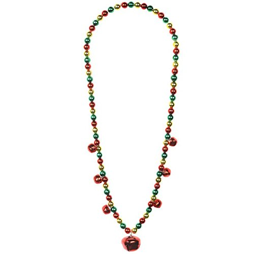 amscan Jingle Bell Multicolored Plastic Necklace   Christmas Accessory ()