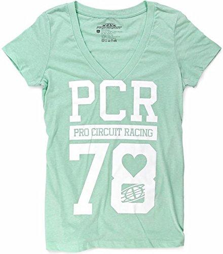 Pro Circuit PCR V-Neck Womens T-Shirt (Mint, Medium)