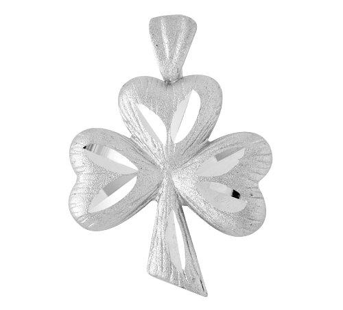 10 ct 471/1000 Or Blanc Clover Celtique- Pendentif
