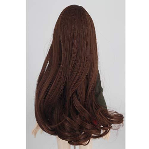 Prettyia Sweet 1/3 BJD Girl Dolls Wig Super Dollfie Wig Curly Long Hair -