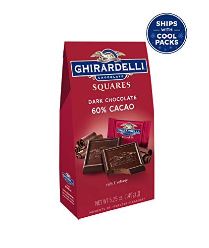 (Ghirardelli Chocolate Squares, Dark Chocolate, 5.25 oz., (Pack of 6))