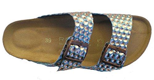 Rohde 5640 mujer clogs & mules cobre