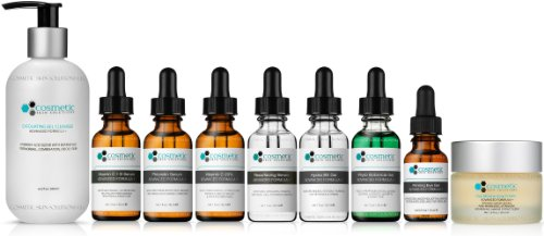 9 Combo Pack Includes EXCLUSIVE SET - Cleanser, Vitamin C+E, Phloretin, C 20%, Resurface, Phyto, B5, Eye, Moisturizer, Advanced Formula, ULTIMATE ANTI-AGING Topical Antioxidants by Cosmetic Skin Solutions LLC