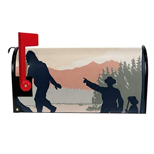 GinCrisis Welcome to Bigfoot Country Magnetic Mailbox Cover Wraps Mail Wrap for Outside Garden Home Decor Standard Size 21x18 in ()