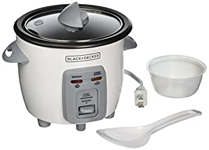 BLACK+DECKER RC3303 1.5-Cup Dry/3-Cup Cooked Compact Rice Cooker, White from BLACK+DECKER