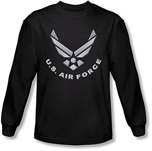 Negro Logo de hombre manga Force Camiseta larga Air para zgxvqwZH