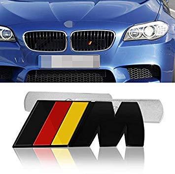 Uniqus Car Styling 3d Metal M M Power Car Front Grille Emblem