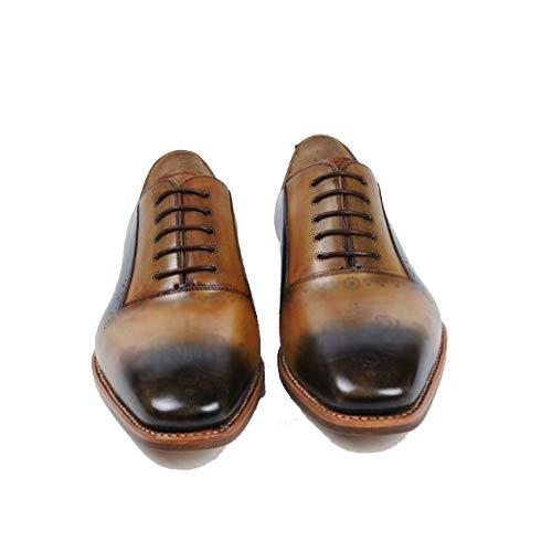 Khaki in Scarpe Mano Uomo in Unita Fatte Stile Tinta in in Moda Popolari Pelle Scarpe Fatte Britannico Mano A da A Pelle qFfx6x1STw