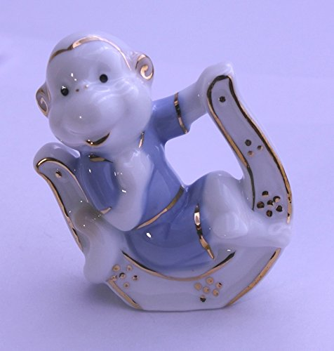 Feng Shui Monkey with Horseshoe - Hand Crafted and Decorated Fine Chinese Porcelain, Figurine 2152512 (1)