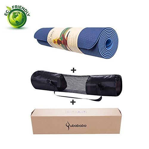 Cheap QUBABOBO TPE Non-slip Yoga Mats For Outdoor Sports Fitness Slim Yoga Gym Exercise Mats Environmental Tasteless Pad Fitness Mat Sport