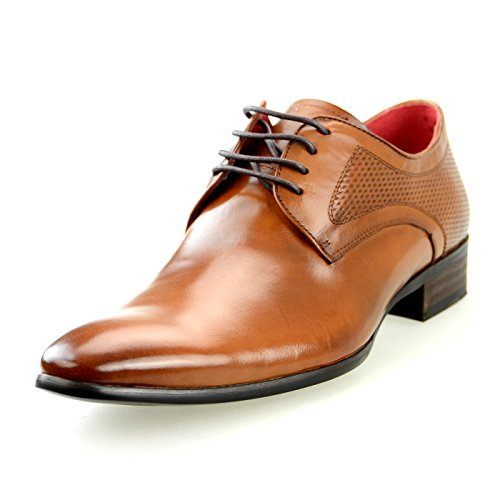 Lucius Leren Heren Dress-schoenen Slip-on Medaillon Llt109-77 Bruin