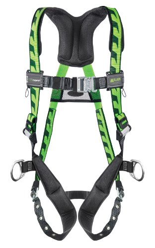 Miller Titan by Honeywell AC-QC-D/UGN AirCore Full Body Harness, Large/X-Large, Green - Titan Full Body Harness